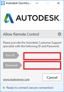 How to use Autodesk Teamviewer Quick Support to join a