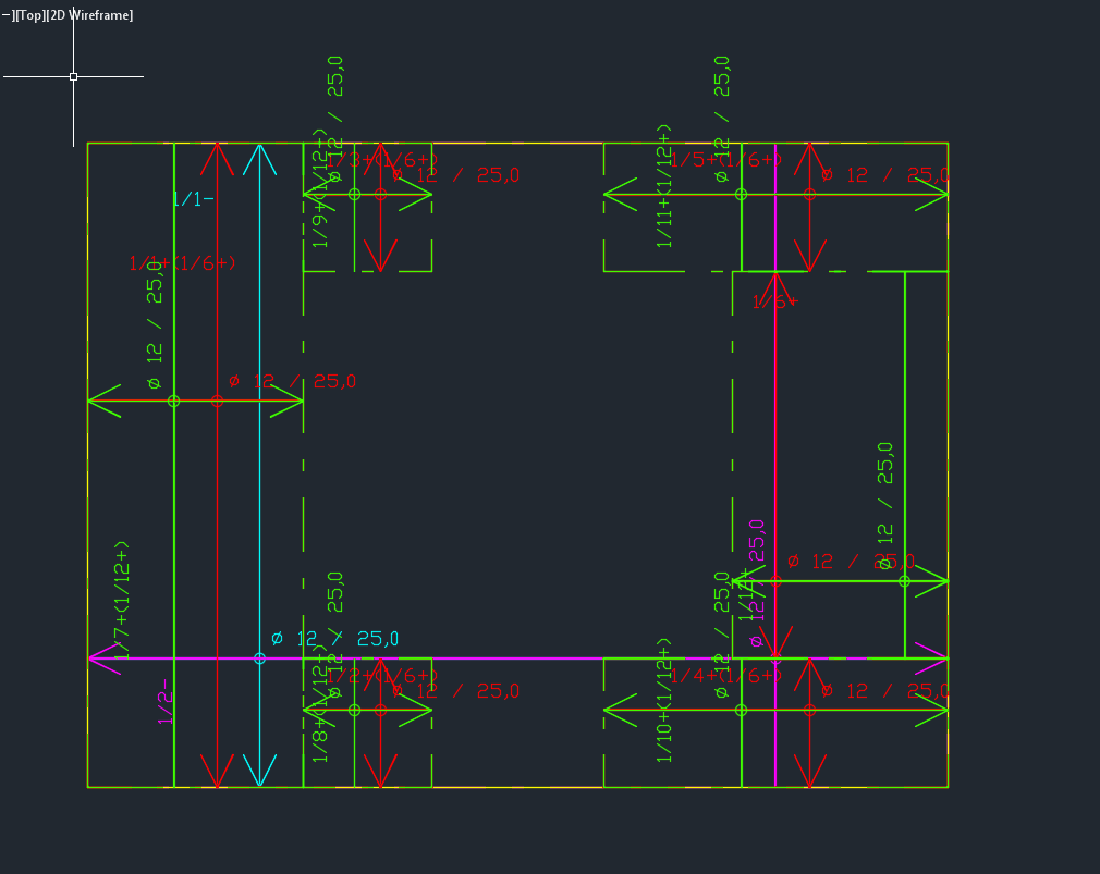 ROBOT - how to save RC slab reinforcement zones as dxf /dwg