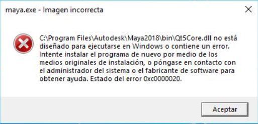 Maya 2018 crashes on Qt5Widgets.dll after 2018.1 update installation