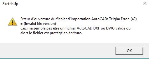 Getting an error message when Importing AutoCAD 2018 DWG