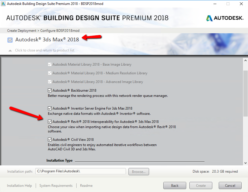 Autodesk Revit Interoperability for 3ds Max missing from Building