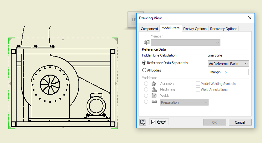 Phantom Or Referenced Part In An Inventor Assembly Is Cut Off Of