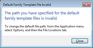 Revit: Templates and Families not Installed
