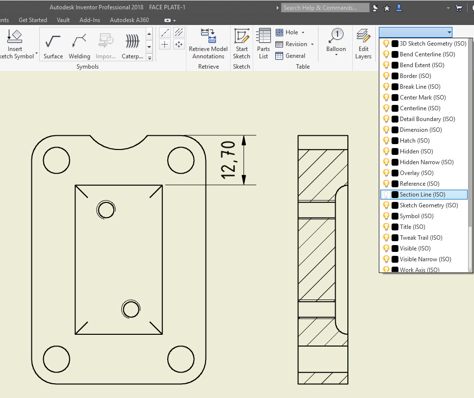 Inventor How To Avoid Adding Dimensions To A Section Line