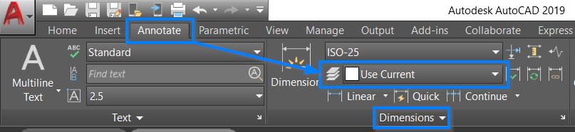Las dimensiones no se crean en la capa actual en AutoCAD | AutoCAD 2019 |  Autodesk Knowledge Network