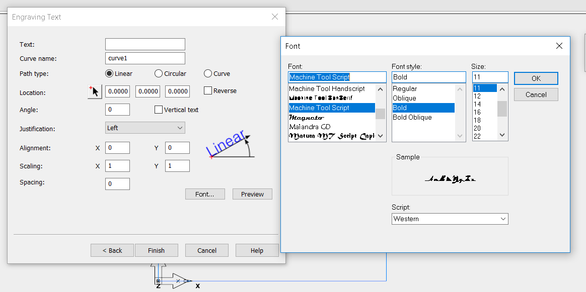 Machine engraving fonts missing after updating to FeatureCAM
