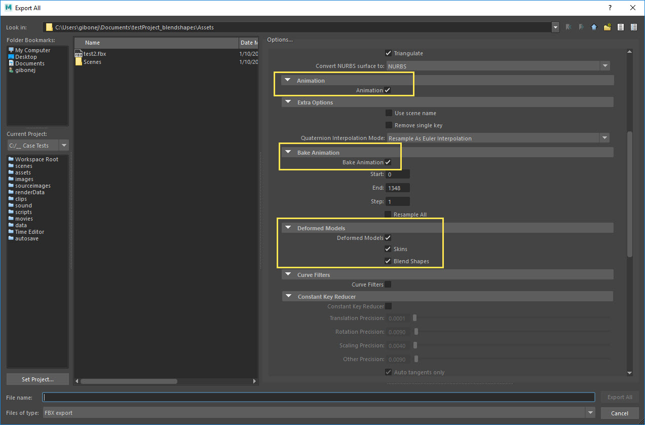 Maya FBX Exports do not include Static Normal Data on Blendshapes
