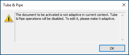 The document to be activated is not adaptive in current