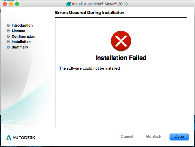 Installation failed on Exit