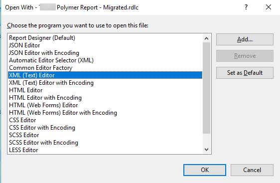 How to migrate legacy Vault RDLC report templates to Vault 2019