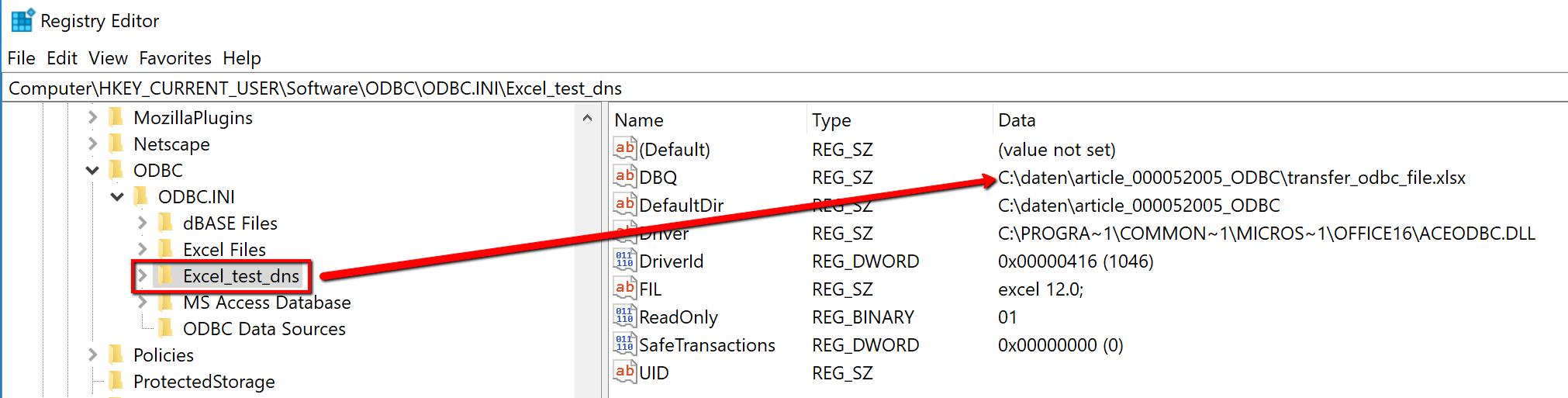 Como transferir conexões de dados ODBC para outro computador