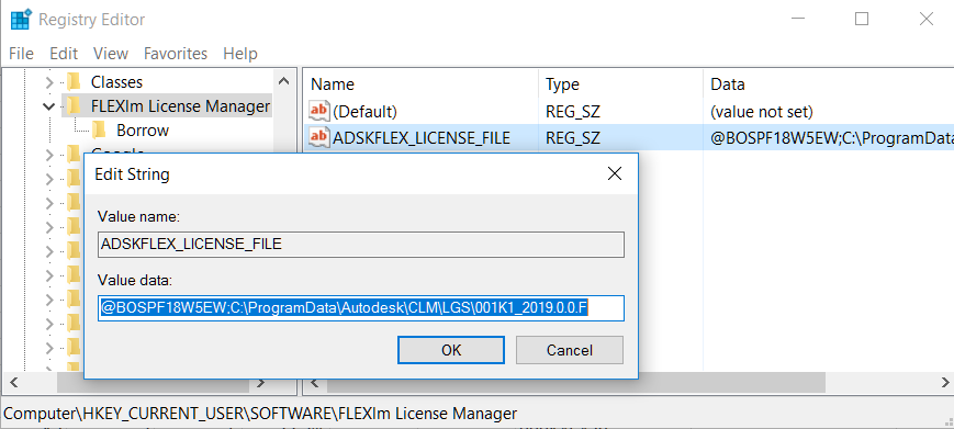 FLEXnet License Finder asks for license server when
