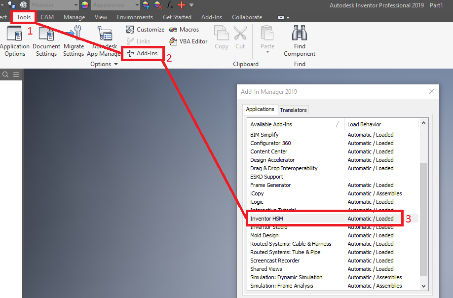 CAM ribbon tab is missing in Inventor | HSM 2019 | Autodesk
