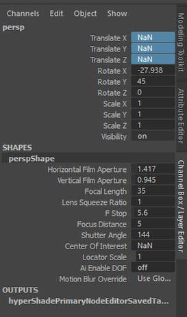 Cannot Frame Objects In Maya Viewport And Attribute Editor