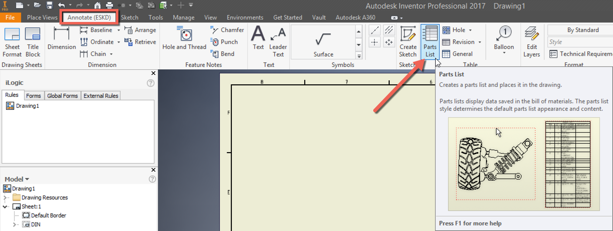 Inventor Projection Of Assembly Is Required On A Drawing View