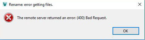 An Error When Translate occurred The Remote Server Returned a