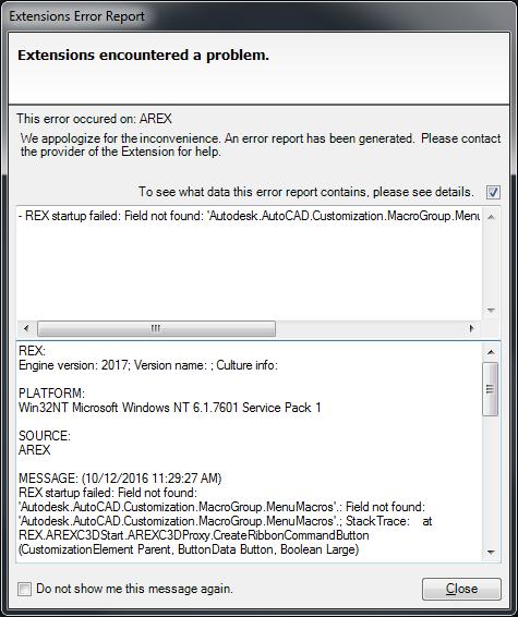 Error   U0026quot Extensions Error Report   Rex Startup Failed U0026quot  When