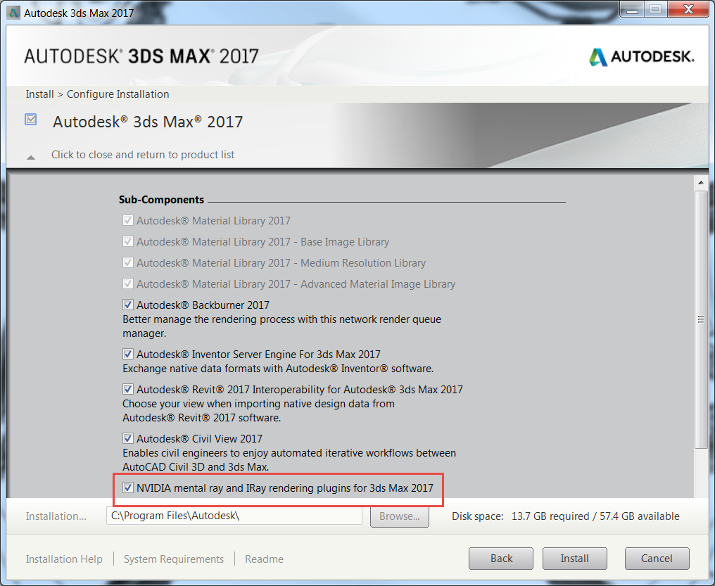 Mental Ray and Iray renderers missing in 3ds Max 2017   3ds