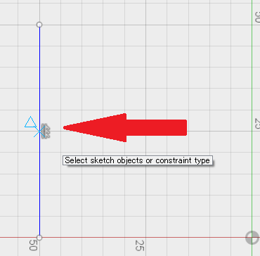 Unable to add a constraint to the midpoint of a line