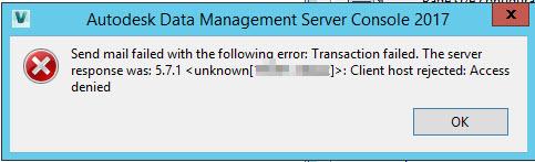 Vault Professional Email error