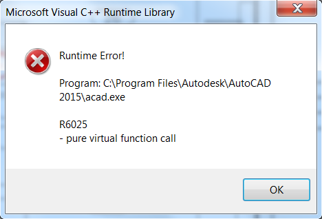 adobe runtime error this application has requested