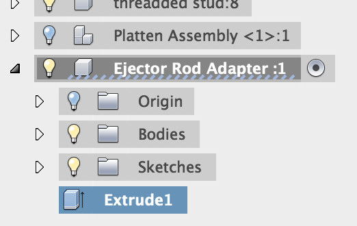How to edit a feature that appears in the browser tree within Fusion