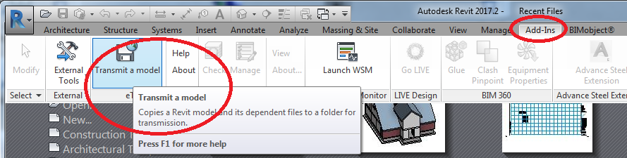 How to send and receive Revit files that are complete