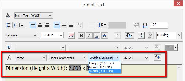 Come aggiungere parametri modello nel cartiglio del disegno