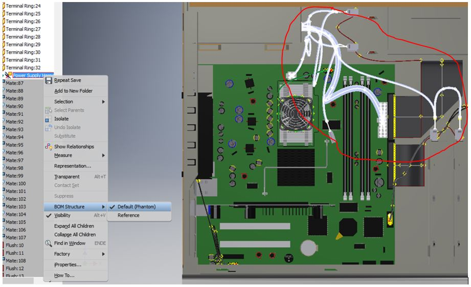 Inventor: Wiring harness is not shown in 2D drawing | Search ... on
