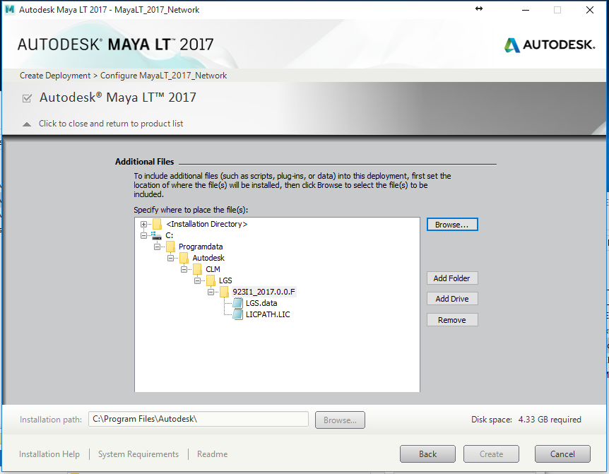 c2300cfb87b Add Maya LT 2017 Update 3 to your network deployment under Include  Additional Software section.