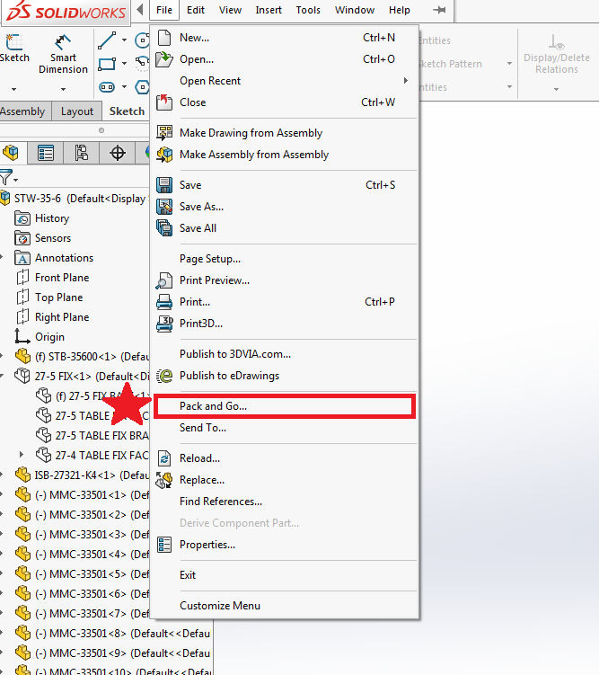 How to export Solidworks assembly files and open them in