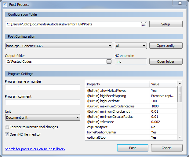 How to install a post processor in HSM and HSMWorks