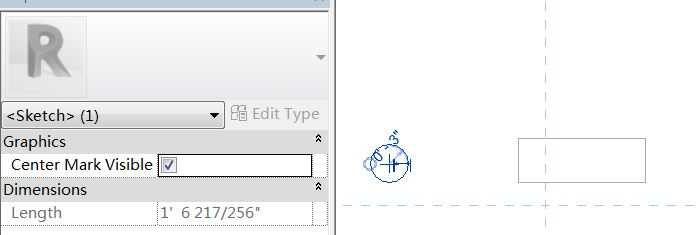 How to add constraint for the center of the circular profile