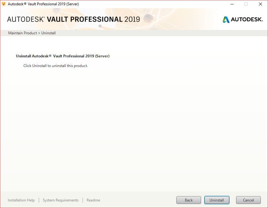 Uninstalling and reinstalling the Vault Server   Vault Products 2017