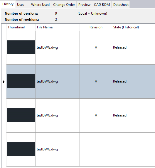 Thumbnail previews of AutoCAD and Inventor files are blank in Vault