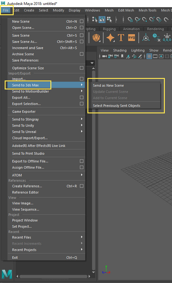 Transfering 3ds Max scenes to Maya | 3ds Max | Autodesk Knowledge