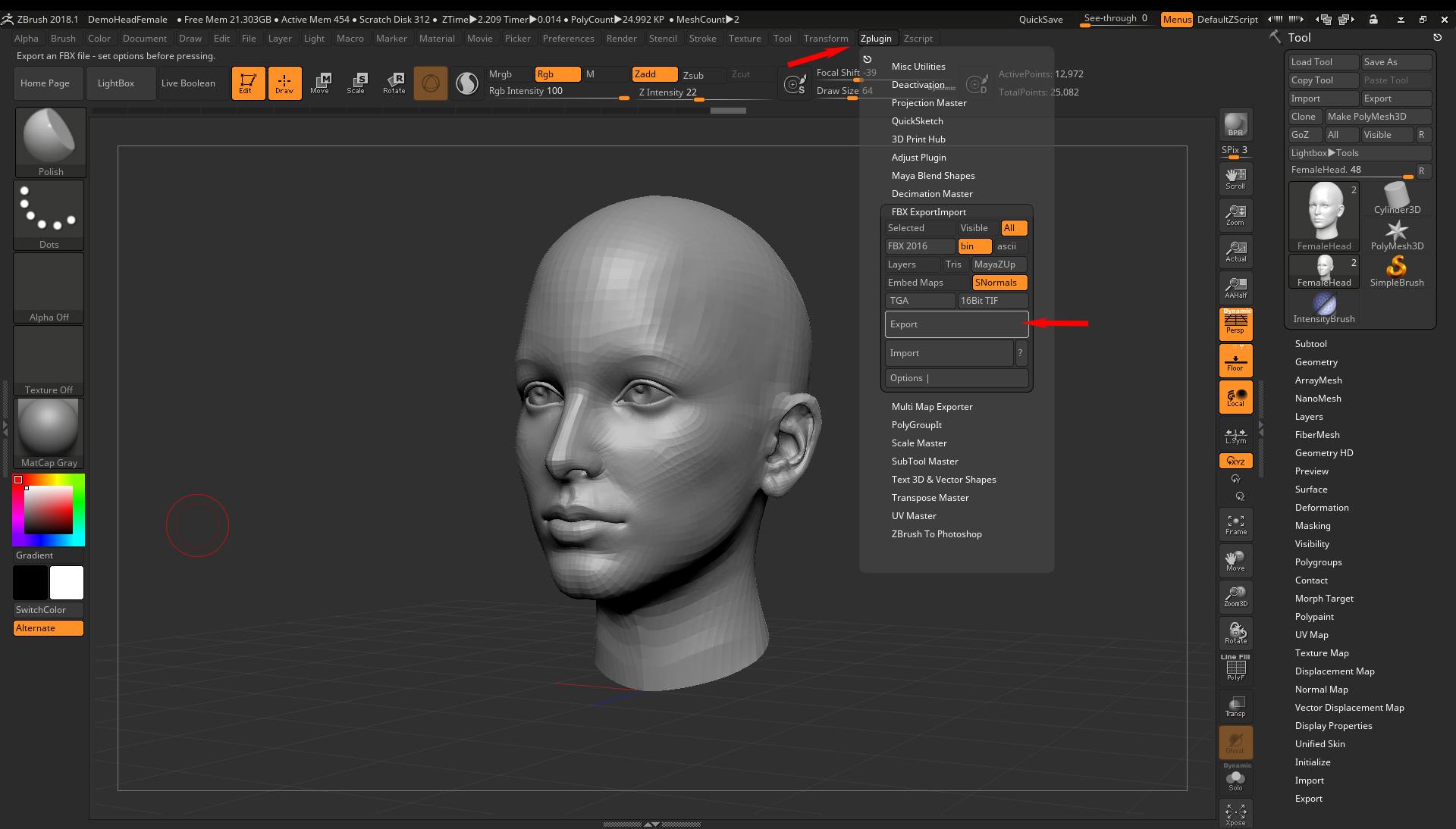 Exporting from Zbrush to VRED through Maya breaks geometry | Maya