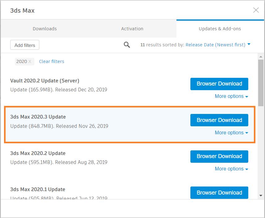 3ds Max 2020 Updates