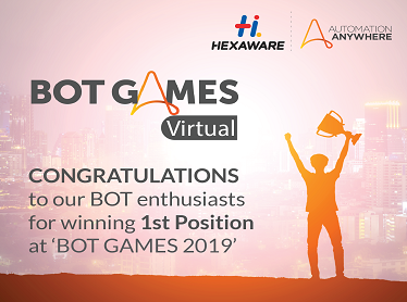 Hexaware Developers Win Big at Automation Anywhere's Virtual Bot Games