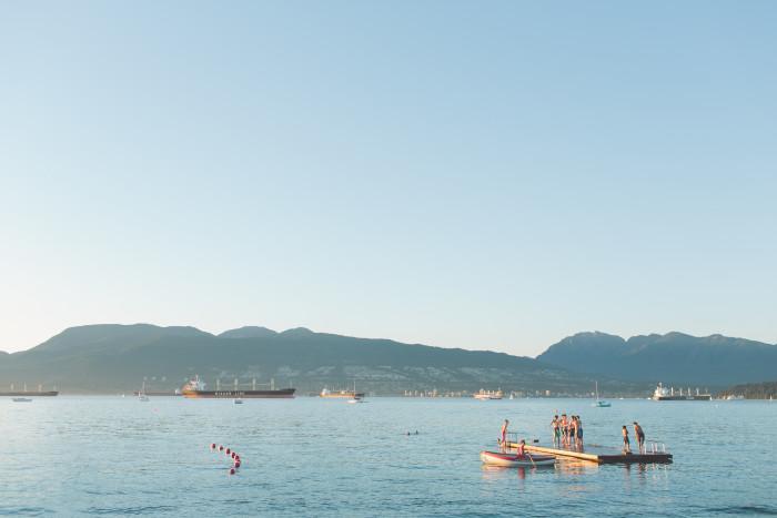jericho beach swimming 2