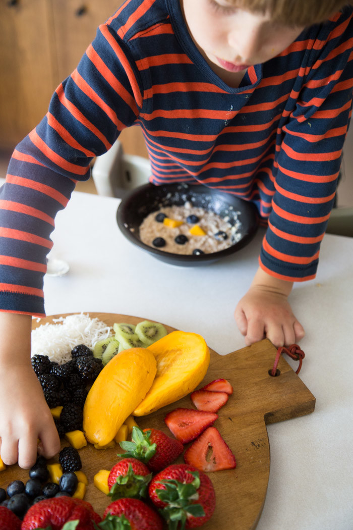 Healthy Oatmeal Bowls for Kids with Plum-Hither and Thither-8