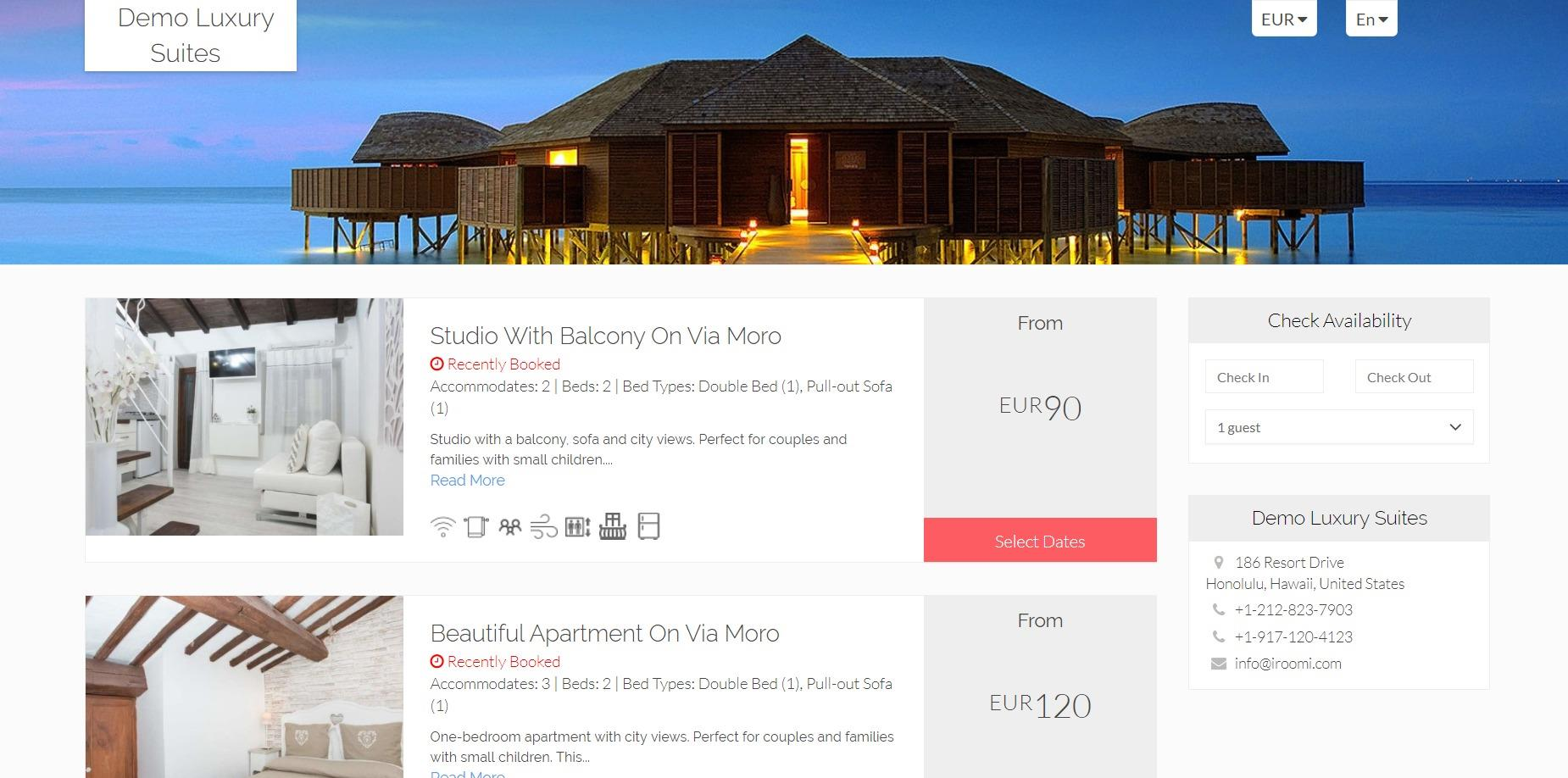 iRoomi Property Management Dashboard