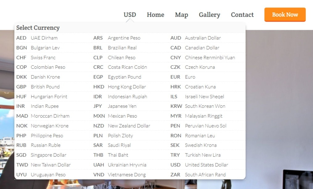 Currency Choices