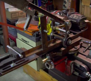Lathe power hacksaw.