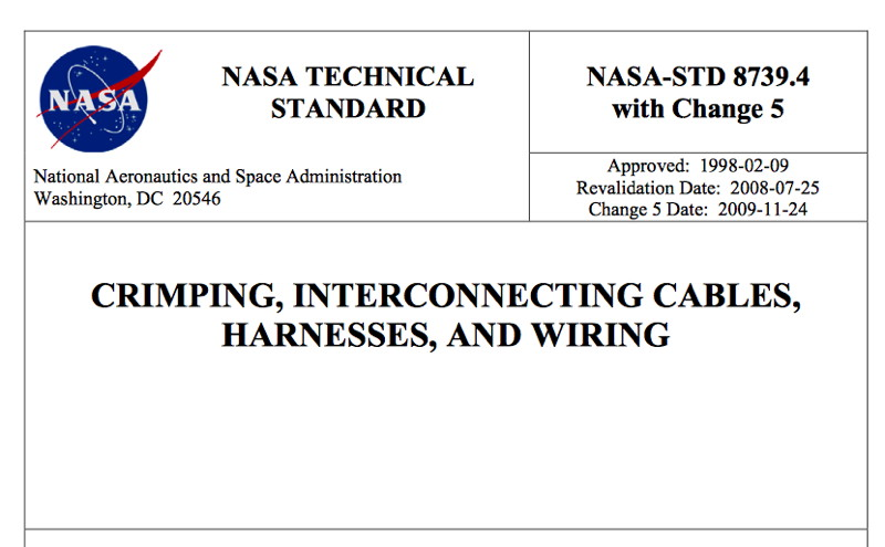 nasa_standard_electrical1 nasa technical standard document crimping, interconnecting cables