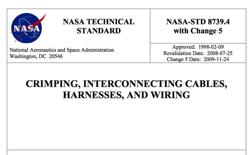 Nasa Technical Standard Document  Crimping