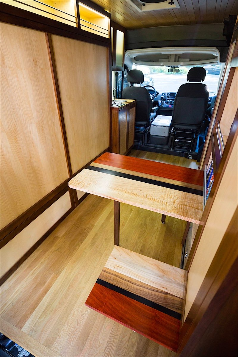 When This Van Is Used For Work During The Week Woodwork Protected With MDF Boards