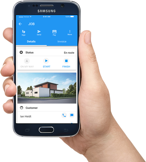 best hvac software mobile app housecall pro