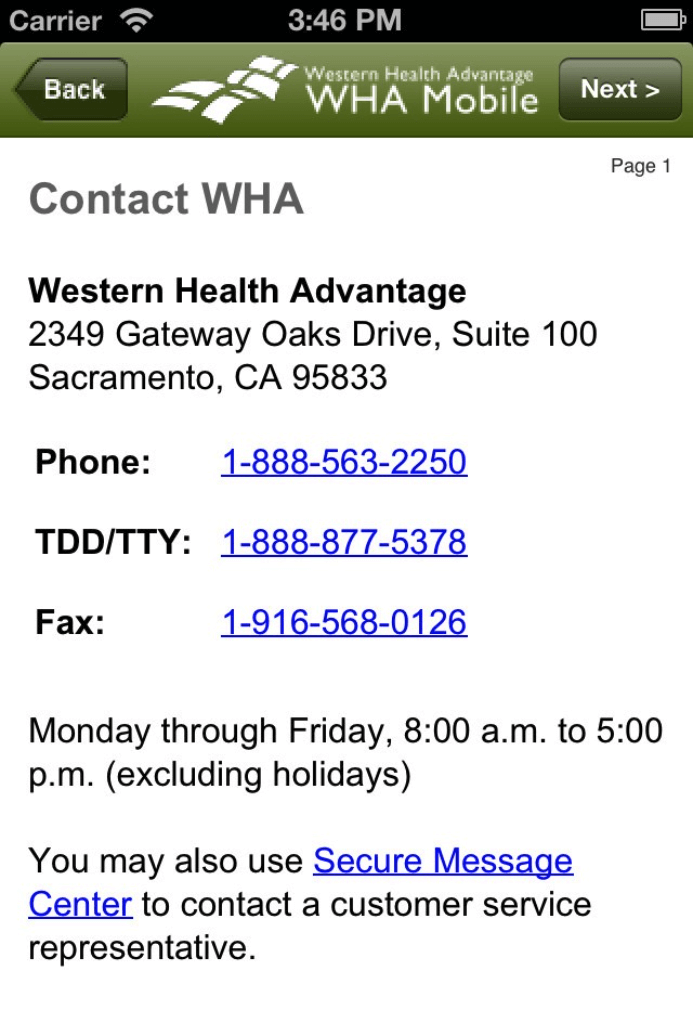 Mobile App for Western Health Advantage