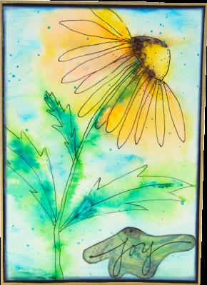 Single Daisy Card - Joy